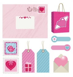 pink postage vector image