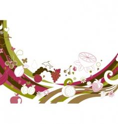 retro funky background vector image
