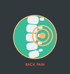 Back Pain Poster vector image