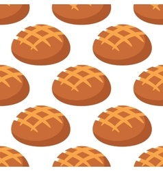 Cripsy wheat bread seamless pattern vector image vector image