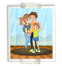 Family photo vector image vector image