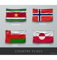 Riveted the country flag wrinkled vector