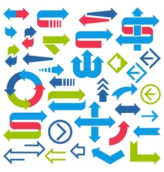 Set of arrows and signs on white background vector