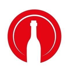 wine bottle decorative icon vector image