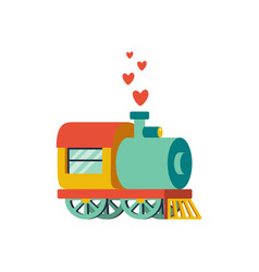 abstract with locomotive and vector image vector image