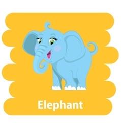 Cartoon cute Elephant vector image