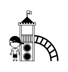 cute boy in childish games character icon vector image vector image