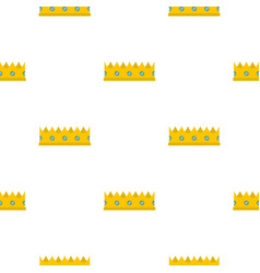 little crown pattern flat vector image vector image