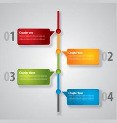 modern diagram poster vector image vector image
