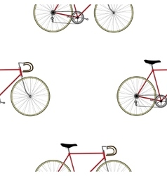 Vintage Bicycle Seamless Pattern vector image