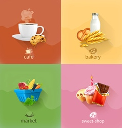 Food concepts set vector image vector image