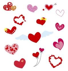 Hearts design vector image vector image