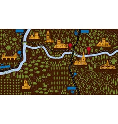 iconic castle map vector image