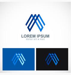 line shape abstract geometry logo vector image