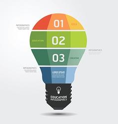 Modern Design light Minimal style infographic temp vector image vector image