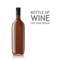 Transparent realistic empty bottle of wine vector image vector image
