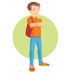 A Teenage Boy vector