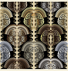 Abctract modern 3d greek seamless pattern ornate vector