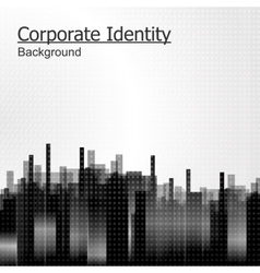Abstract background black city vector