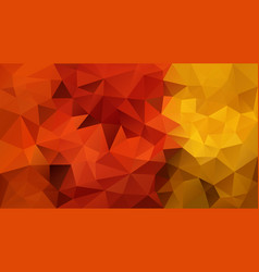 Abstract polygon background orange yellow vector