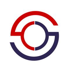 Abstract s letter circle logo design alphabet vector