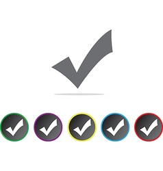 Approval icons vector image