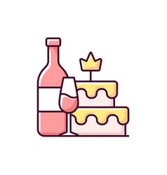 Bachelorette party rgb color icon vector