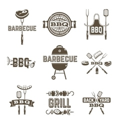 Barbecue And Grill Labels vector