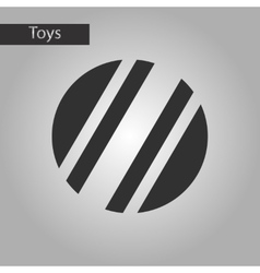 Black and white style toy ball vector