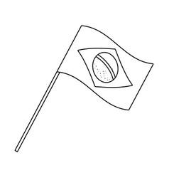 Brazil flag in black and white vector