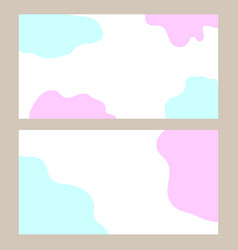 business card with a fluid background banner vector image