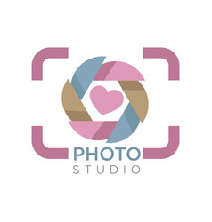 camera focus photo studio isolated icon mobile app vector image