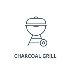 charcoal grill line icon charcoal grill vector image
