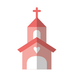 Church building isolated icon vector