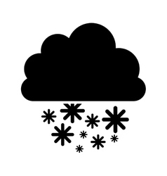 cloud with snow icon image vector image