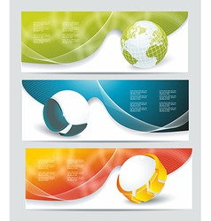 Collection banner design with glass balls and vector