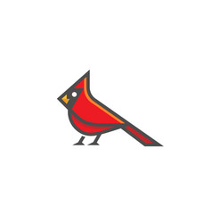 Creative cardinal bird logo vector