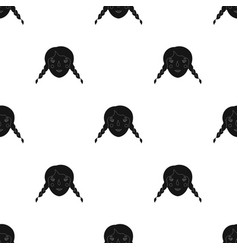 Daughter icon in black style isolated on white vector