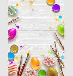 Easter background with space for greeting vector