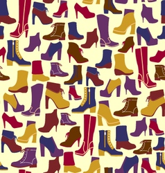 fashion Shoes silhouettes Background vector image