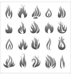 flat fire icons vector image