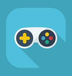Flat modern design with shadow game console vector