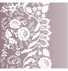 Floral lace border vector