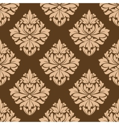 Floral seamless brown arabesque pattern vector