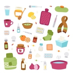 Flu influenza icons vector