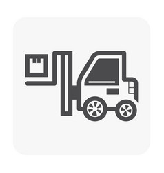 forklift and box icon on white vector image