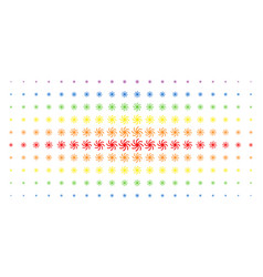 Galaxy spectral halftone grid vector