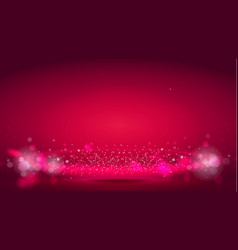 Glow light wave or light aura on red bokeh vector