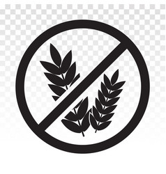 Gluten free or non food allergy product vector