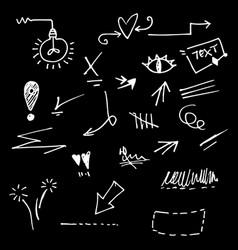 Hand drawn set elements for concept design vector